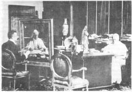 Von Well paints Pius X in his private study