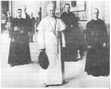 Pope Pius X in the Vatican with his faithful secretaries